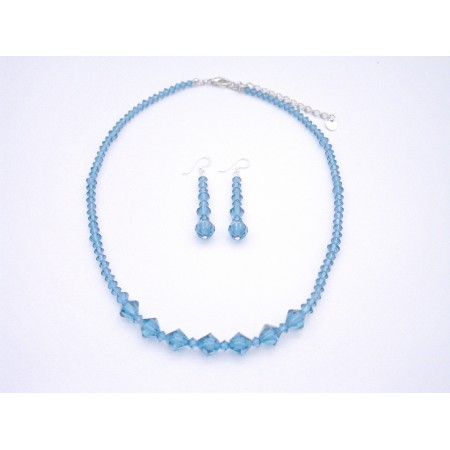 Fashion Jewelry For Everyone Collections Indicolite Necklace Set Genuine Swarovski Crystals Jewelry Set at Sears.com