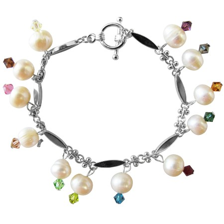 Fashion Jewelry For Everyone Collections Gorgeous Fresh water Pearls white and Siam Red and Emerald Crystals at Sears.com