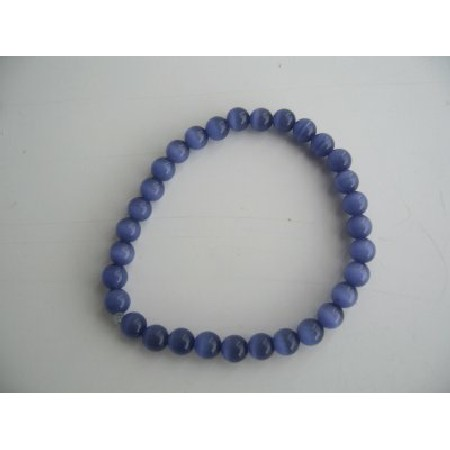 FashionJewelryForEveryone.com Stretchable Royal Blue Cat Eye Beaded Bracelet Handmade Jewelry at Sears.com