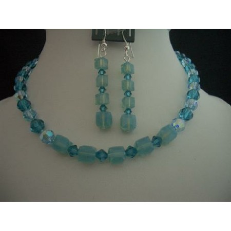 Custom Jewelry Swarovski Blue Acquamarine Indicolite Crystals