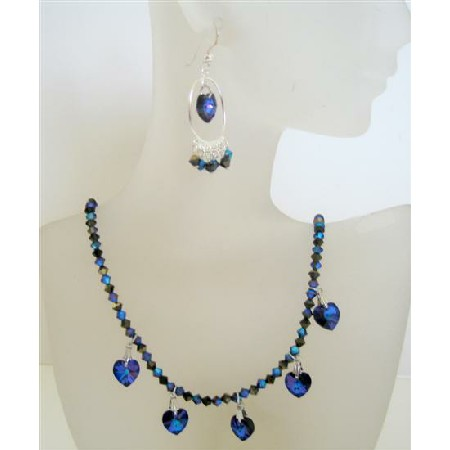 Romantic Handmade Jewelry Swarovski Crystal Morion AB 2X Dorado Bicone