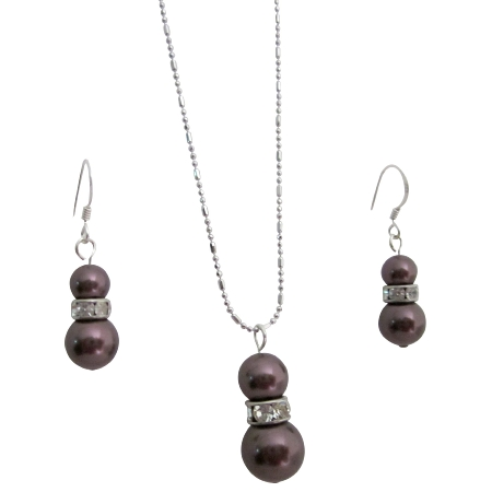 Extremely Beautiful Prom Fashion Jewelry Burgundy Pearls