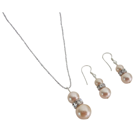 Swarovski Elegance Peach Jewelry Gift Bridesmaid