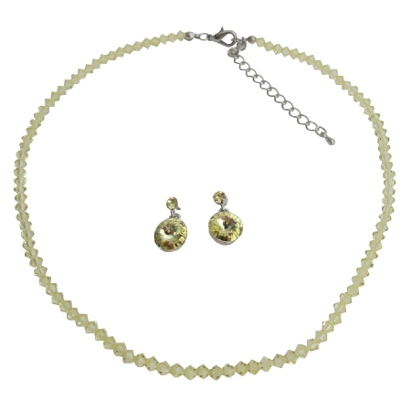 Sophisticated Elegant Necklace Affordable Jonquil Crystal Jewelry Set