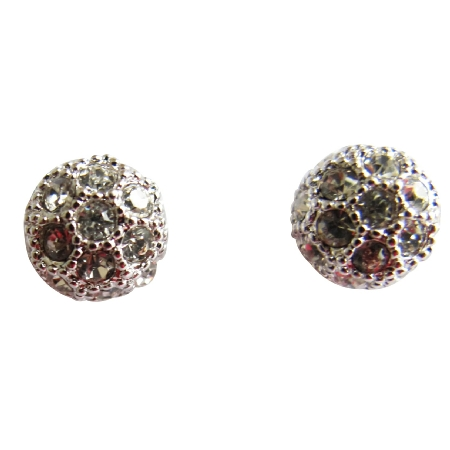 Cubic Zircon Embedded Stud Pierced Integrate Designed Style Earrings