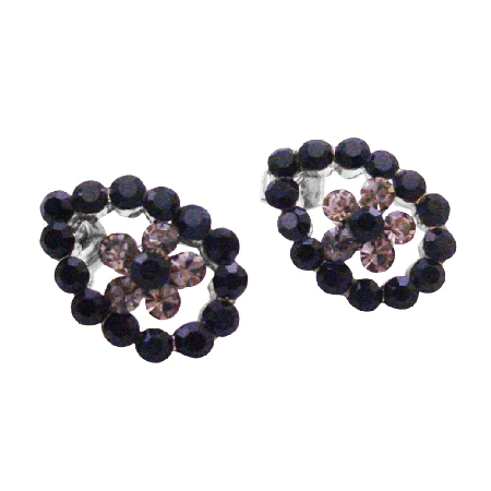 Jet Crystals Sparkling Black Diamond Dress Black Jet Crystals Earrings