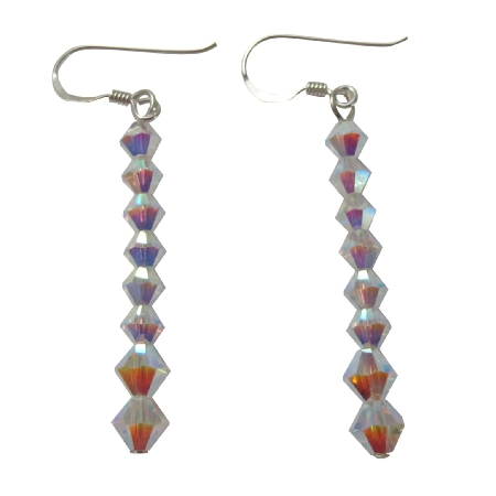Chalk Crystals Swarovski White Crystals Sterling Silver 92.5 Earrings