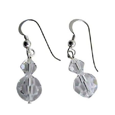 Swarovski Clear Crystal Sterling Silver Earrings
