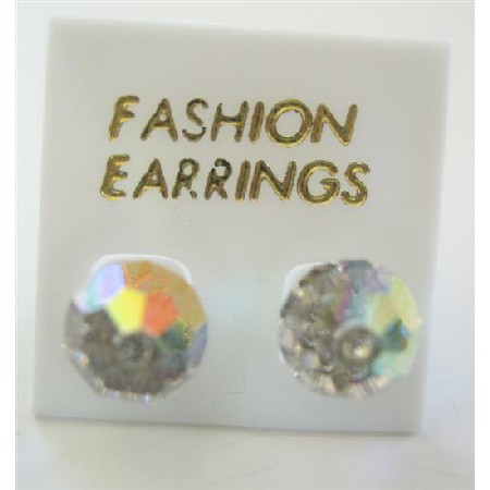 AB Crystals Stud Earring Swarovski AB Crystals Stud Earrings