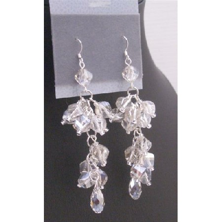 Austrian Crystals 8mm Helix Pineapple Teardrop Swarovski Bead Earrings