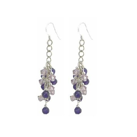 Gorgeous Crystals Earrings Lite Amethyst Crystals & Math Amethyst