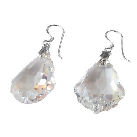 Swarovski AB Baroque Crystal 92.5 Sterling Silver Hook Earring