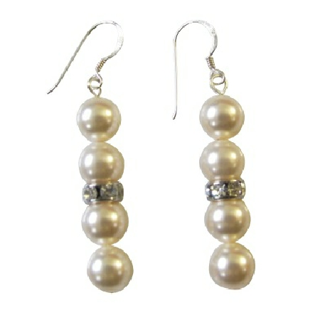 Ivory Pearls Fashion Jewelry Earrings Wedding Party Gift