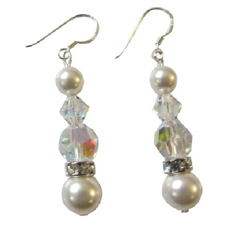 Inexpensive Fashion Designer Elegant White Earrings Jewelry