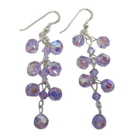 Celebrity Inspired Earrings Violet Grape Earrings