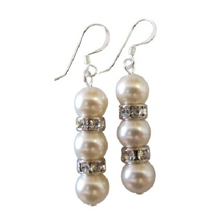 Swarovski Ivory Collection Bridal Bridesmaid Earrings