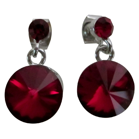 Infused Sense Of Romance Siam Crystal Earrings