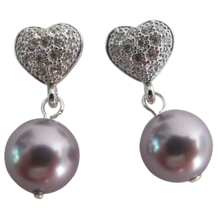 Celebrate Earrings Mauve Pearl Post Earrings