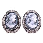 Looking For Gift Find Classy Jewelry Cameo Earrings with Crystals