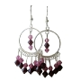 Genuine Swarovski Rose & Garnet Crystals w/ Sterling Silver 92.5 Chandelier