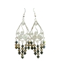 Sterling Silver Chandelier Earrings w/ Genuine Swarovski Ceylon & Toback Crystals Dangling Earrings