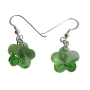 Sterling Silver Swarovski Peridot 10mm Crystal Flower Earrings
