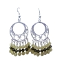 Jonquil Swarovski Crystal Sterling Silver 92.5 Chandelier Earrings