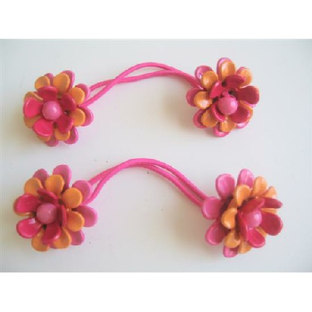 Colorful Flower Rubber Band Girls Hair Accessory