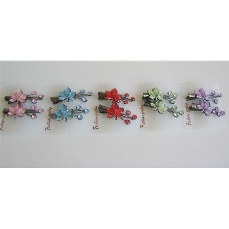 Multi Floral Girls Hair Clamp Clip