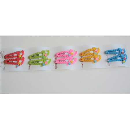 Multicolored Girls Hair Clips Assorted Colors