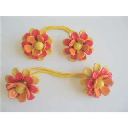 Flower Hair Rubber Band Beautiful Colors