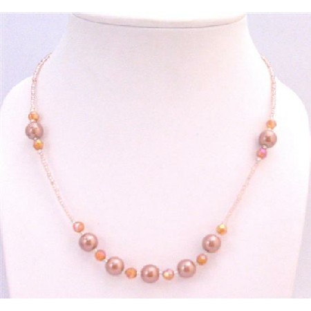 Bronze Round Beads Girls Necklace Girls Gift Only A Dollar Necklace