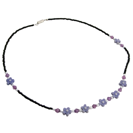 Lavender Amethyst Girl Necklace Affordable Inexpensive Dollar Necklace