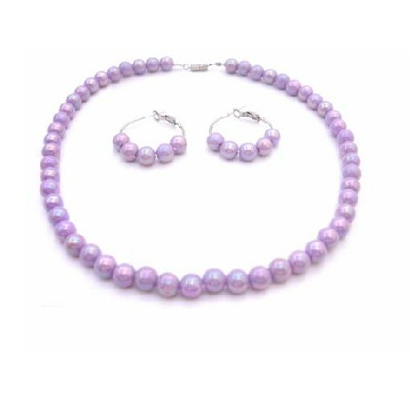 Lavender Girls Jewelry Necklace Set Affordable Under $5 Necklace Set