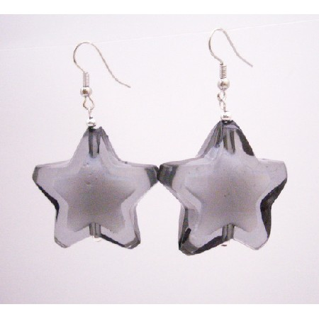 Fabulous Birthday Return Gifts Girls Earrings Black Star Earrings