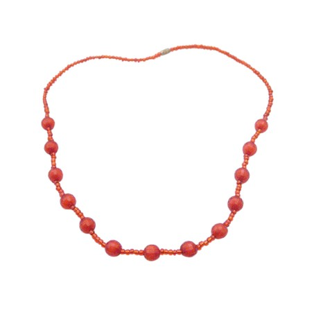 Birthday Return Gift Handmade Red Beaded Necklace Only For Dollar