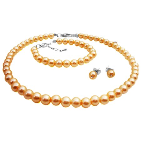 Baptism Pearl Jewelry Necklace Stud Earrings Bracelet Affordable Price