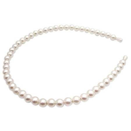 Wedding Headband Cream Pearls Hair Accessories