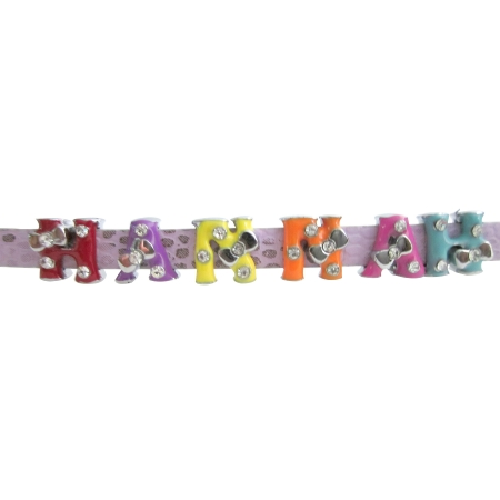 Personalized Name Bracelet In Chic Pink Watch Strap