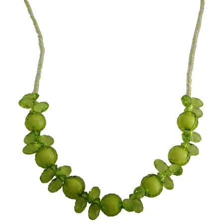 Fancy Green Beads Necklace Perfect For Birthday Or Return Gift