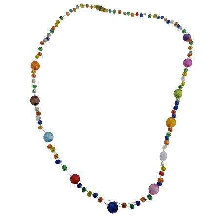 Multicolor Glass Beads Fancy Necklace Gift For Girls