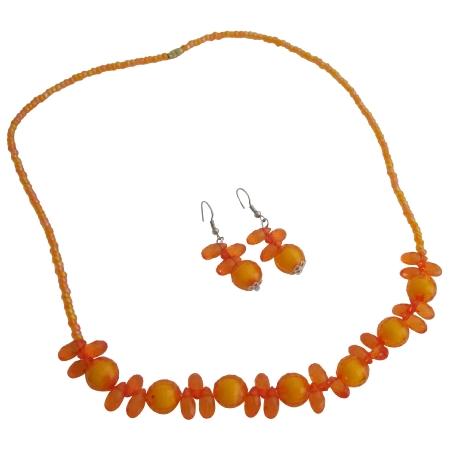 Orange Jewelry Set Christmas Little Girls Gift