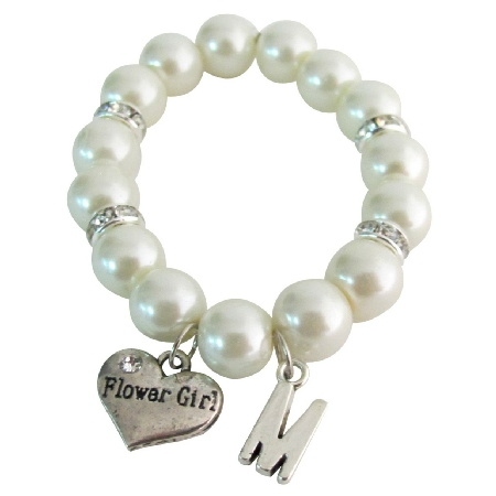 Junior Bridesmaid Personiled Bracelet Initial Name Bracelet
