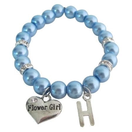 Personalized Junior Bridesmaid Bracelet Flower Girl Bracelet