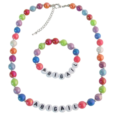 Toddler Infant Jewelry Personalized Necklace and Bracelet