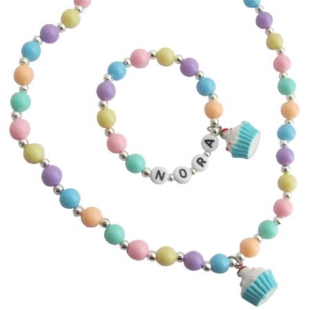 Christmas Jewelry Personalized Gift Necklace Bracelet Set