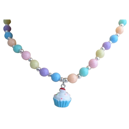 Cupcake Jewelry Candy Cupcake Necklace Christmas Gift