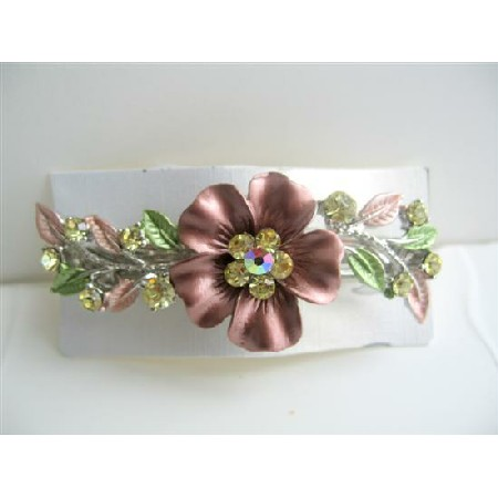 Sparkling Rhinestones Hair Barrette Flower Hair Barrette Clip