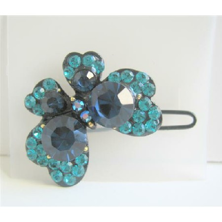 Encrusted Crystals Butterfly Hair Clip Hair Jewelry