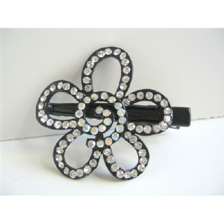 Flower Hair Clamps Fully Decorated & Encrusted Hair Clamps Accessories
